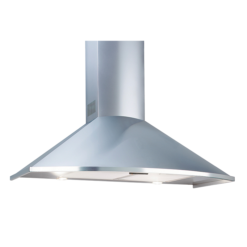 TRC 36 - Wall hood Stainless Steel - Trapezoid Curved design