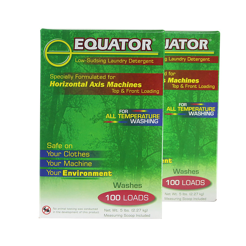 Equator HE Detergent - 2 boxes of 5 lbs each (HED 2842)
