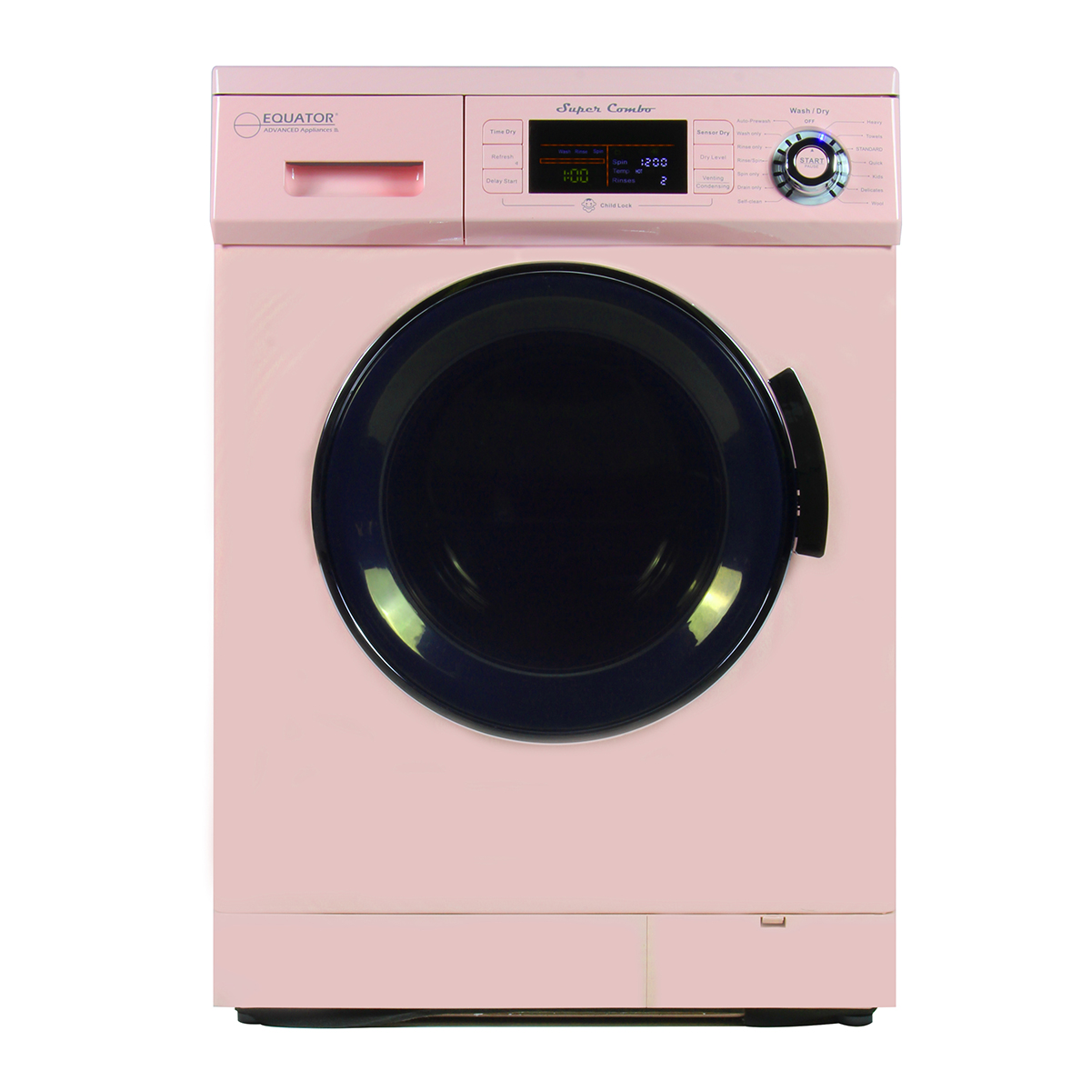Equator Super Combo Washer Dryer EZ 4400 CV Pink
