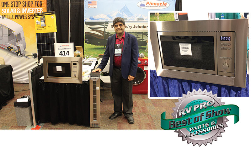 Pinnacle Combo Microwave-Oven wins RV Pro Best of Show Award 2017