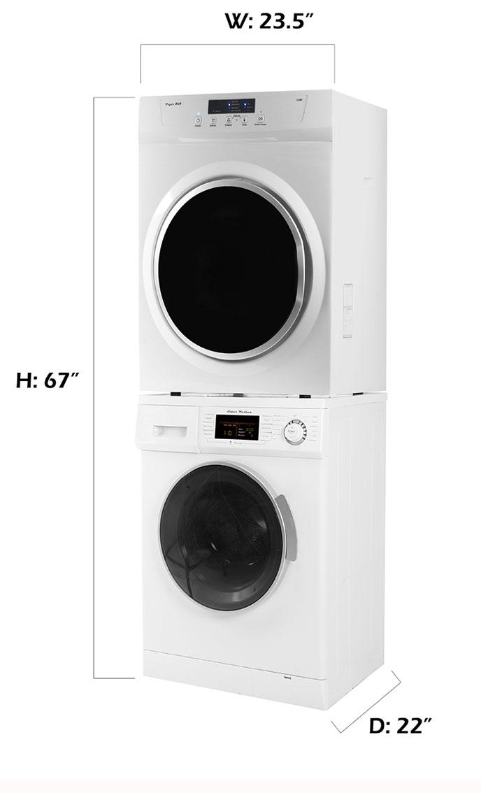 Meridian Stackable Washer Dryer Set MW 824 + MD 860 V
