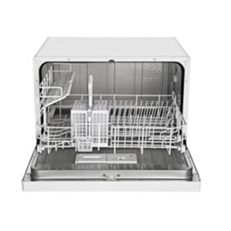 ... Midea CD 400-3203 W - Dishwasher - Countertop 6 Place Setting in White