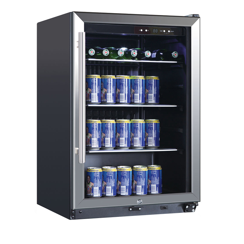 Conserv CH 169-138 - Can Cooler Black with SS trim, 138 Cans