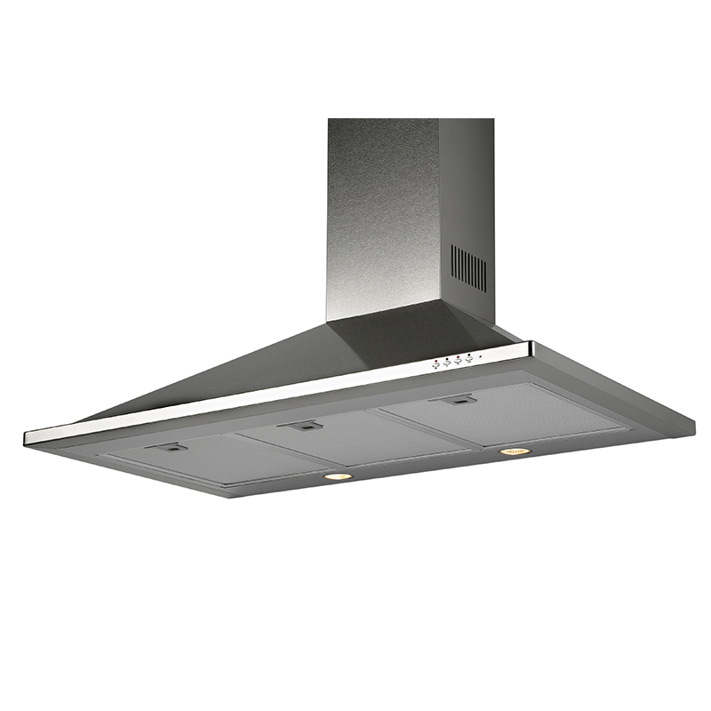 Deco TR 30  Trapezoid design <br> Wall hood Stainless Steel