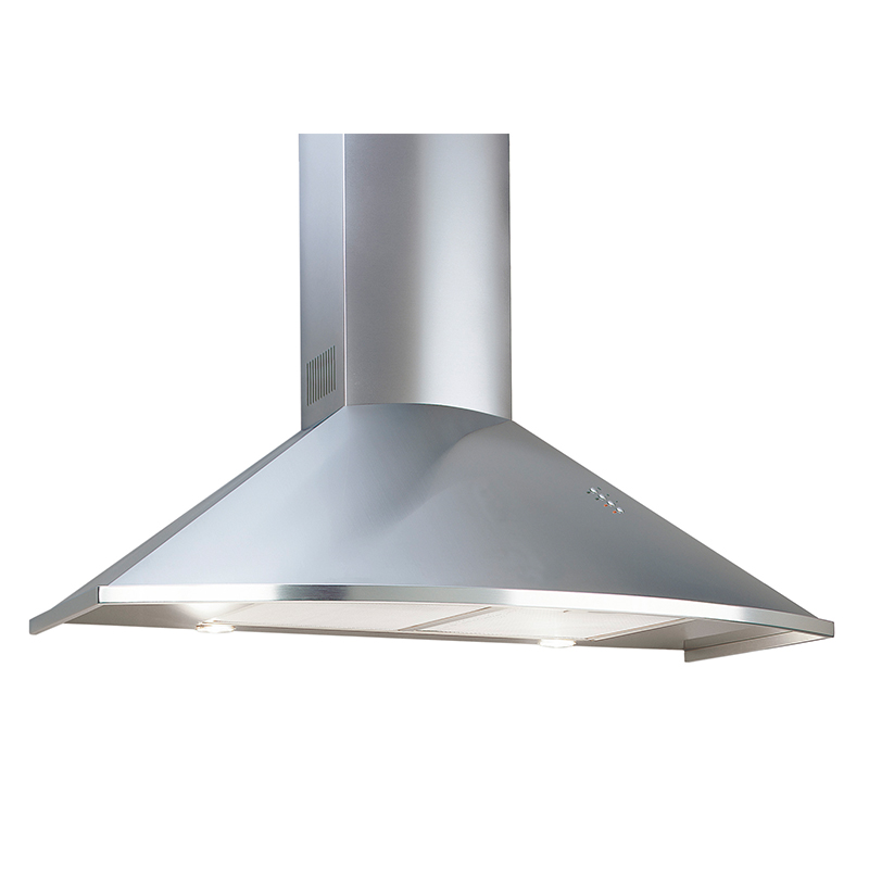 Deco TRC 36  Trapezoid Curved design  <br> Wall hood Stainless Steel