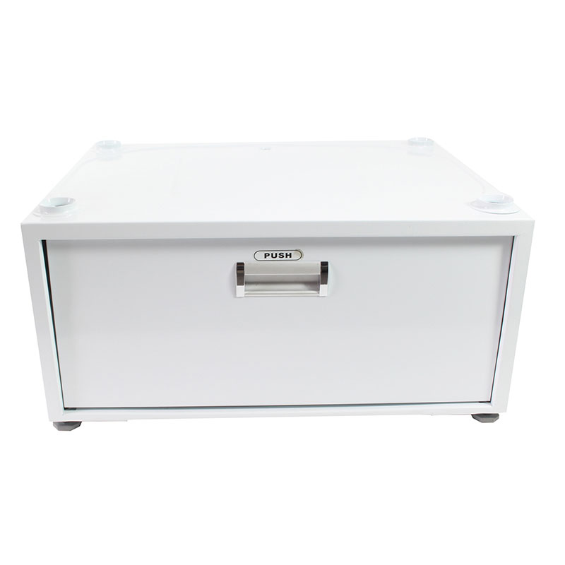 11.5 inch High Pedestal with Storage drawer (White)