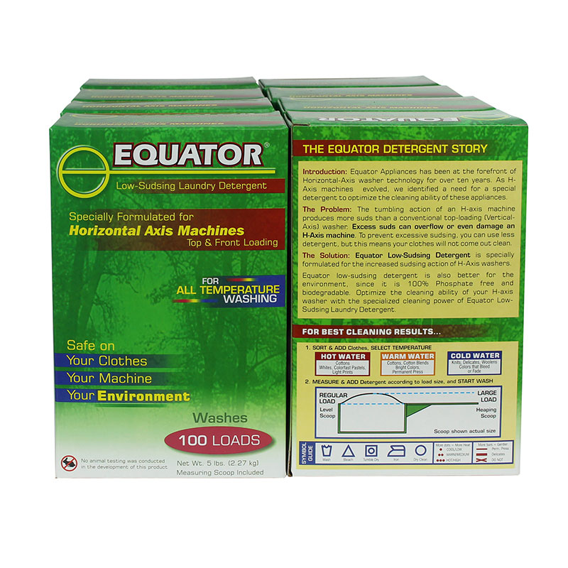 Equator HE Detergent - 8 boxes of 5 lbs each (HED 2844)