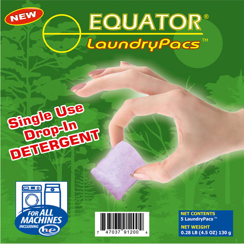 Laundry Pac Detergent - Contains 72 bags of travel bag, Each travel bag contains 5pacs of Detergent.