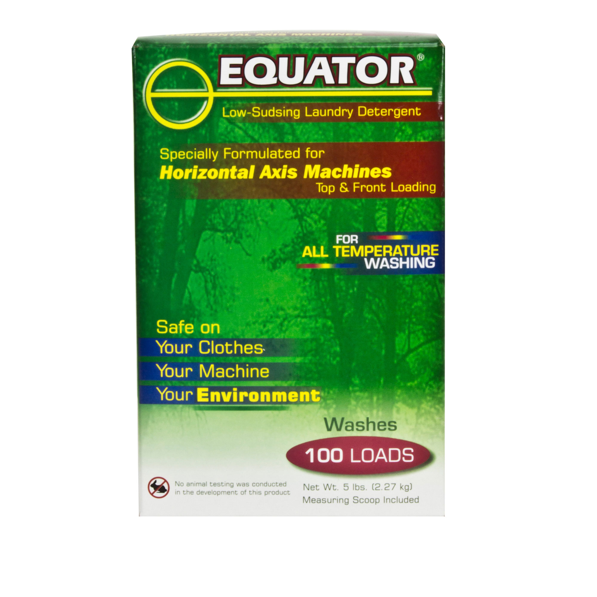 Equator HE Detergent <br> 1 box of 5 lbs (HED 2841)