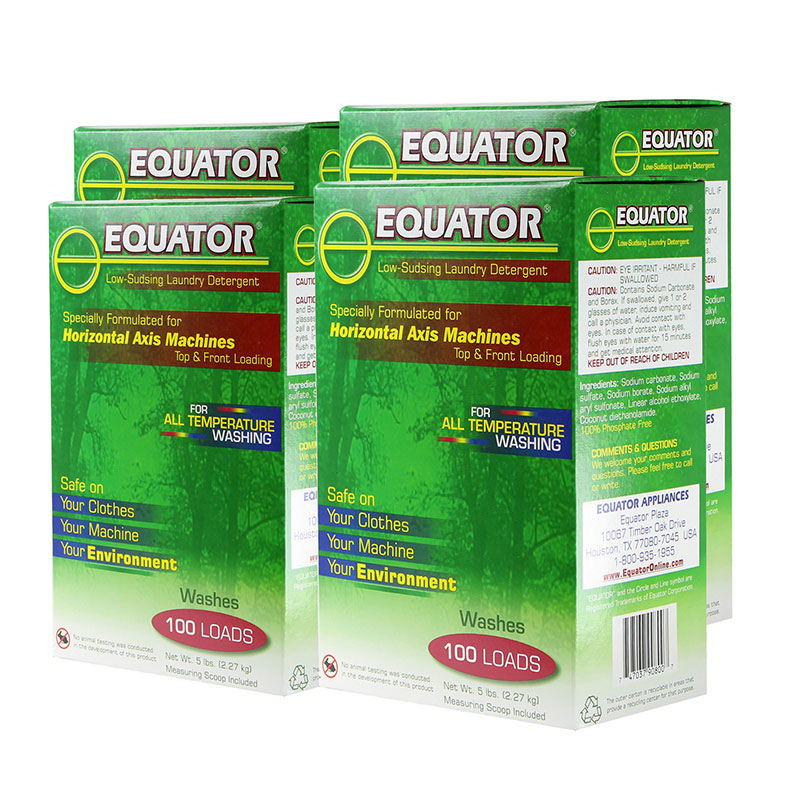 Equator HE Detergent - 4 boxes of 5 lbs each (HED 2843)