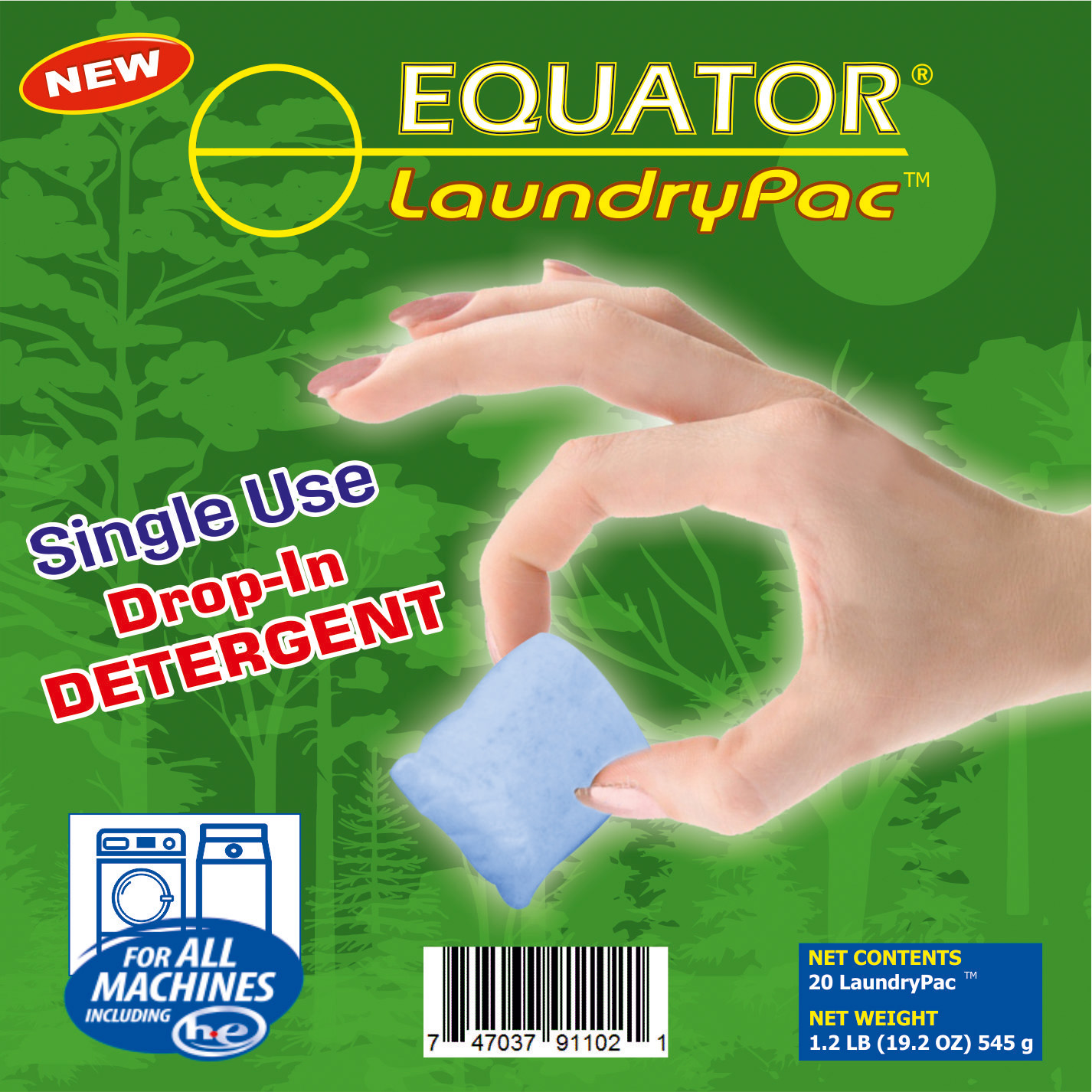 LaundryPac detergent powder (HED 3856)