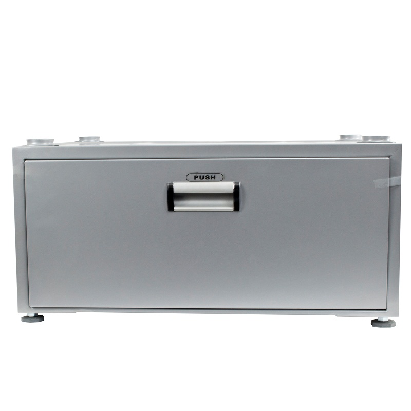 11.5 inch High Pedestal with Storage drawer (Silver)