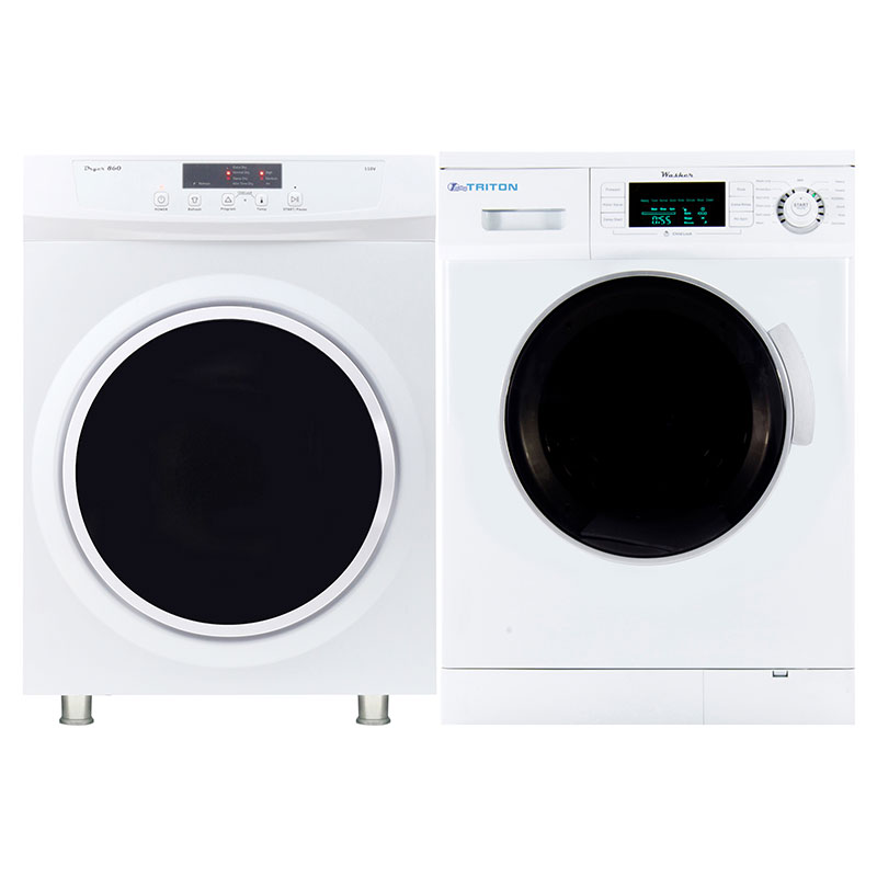 Triton Stackable Washer Dryer Set TW 824 + TD 860 V