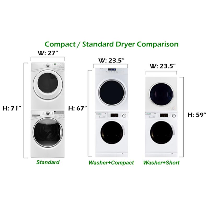 Equator Stackable Washer Dryer Set EW 824 + ED 860 V