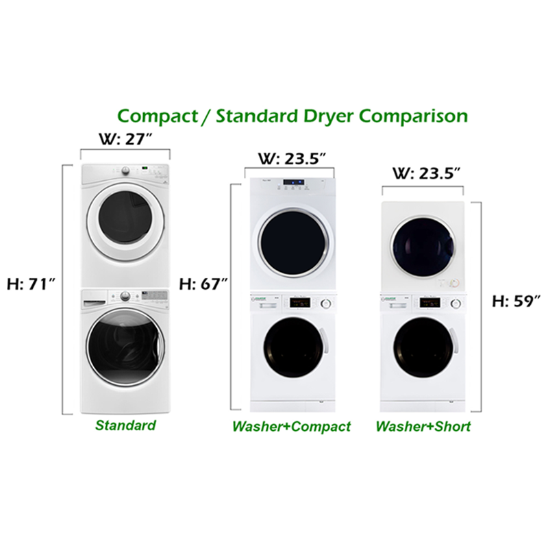 conserv Stackable Washer Dryer Set CW 824 & CD 860 V