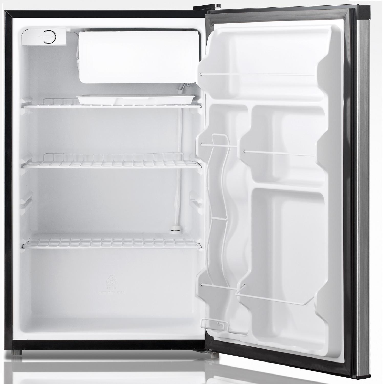 REF 160 R-44B - Defrost Refrigerator Black - Capacity 4.4 cu.ft