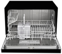 CD 400-3203 B - Dishwasher - Counter top 6 Place Setting in Black