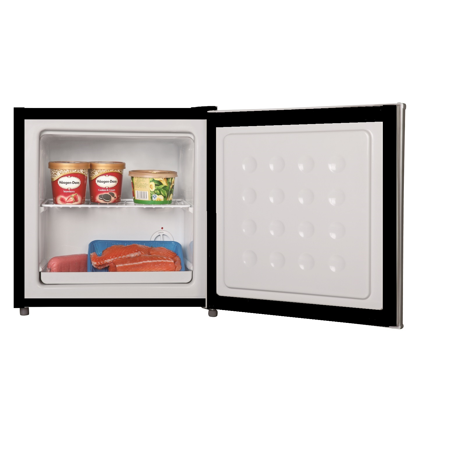 Equator Midea 1.1 cu.ft <br> Defrost Upright Freezer Black
