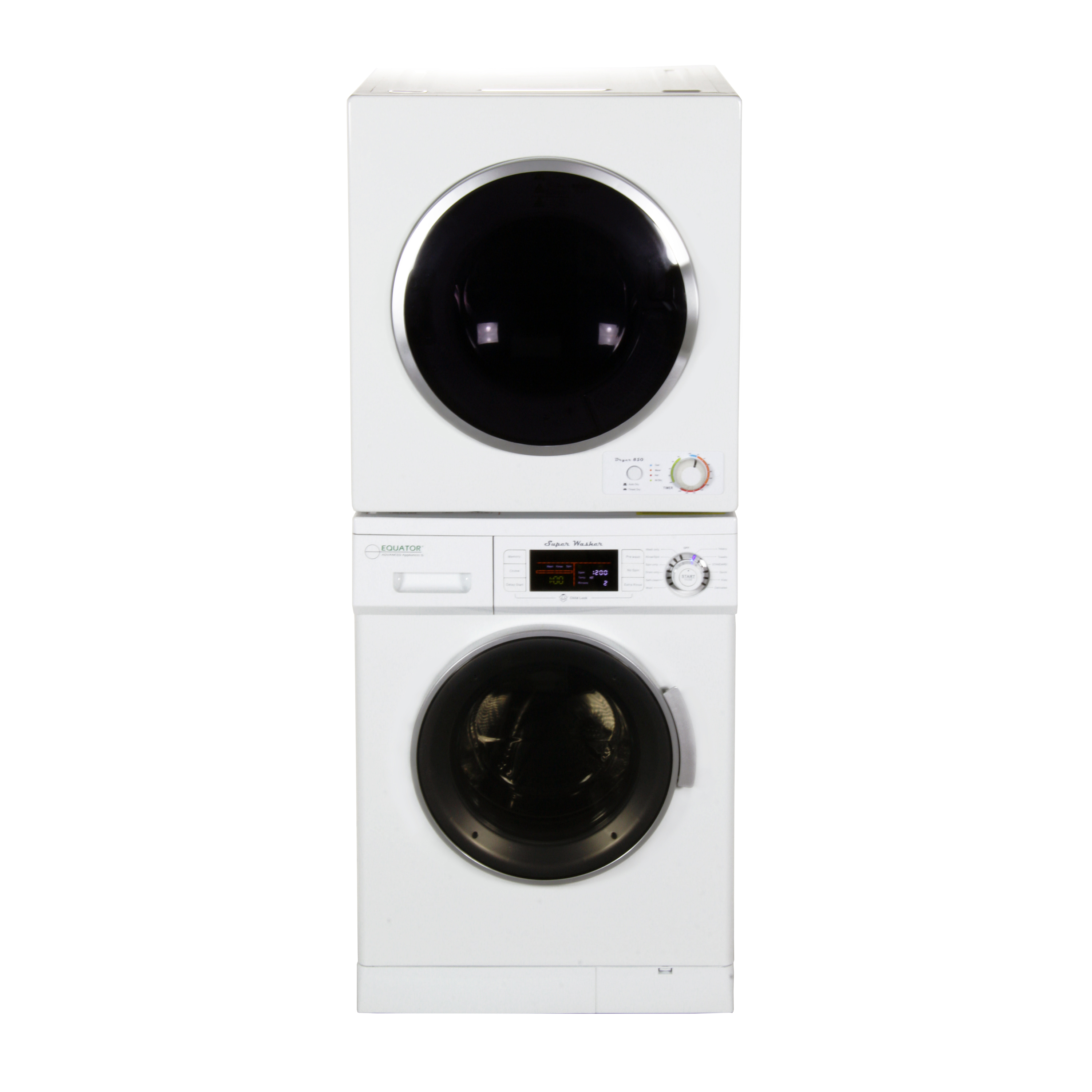 Equator Stackable Washer Dryer Set EW 824 + ED 850 V