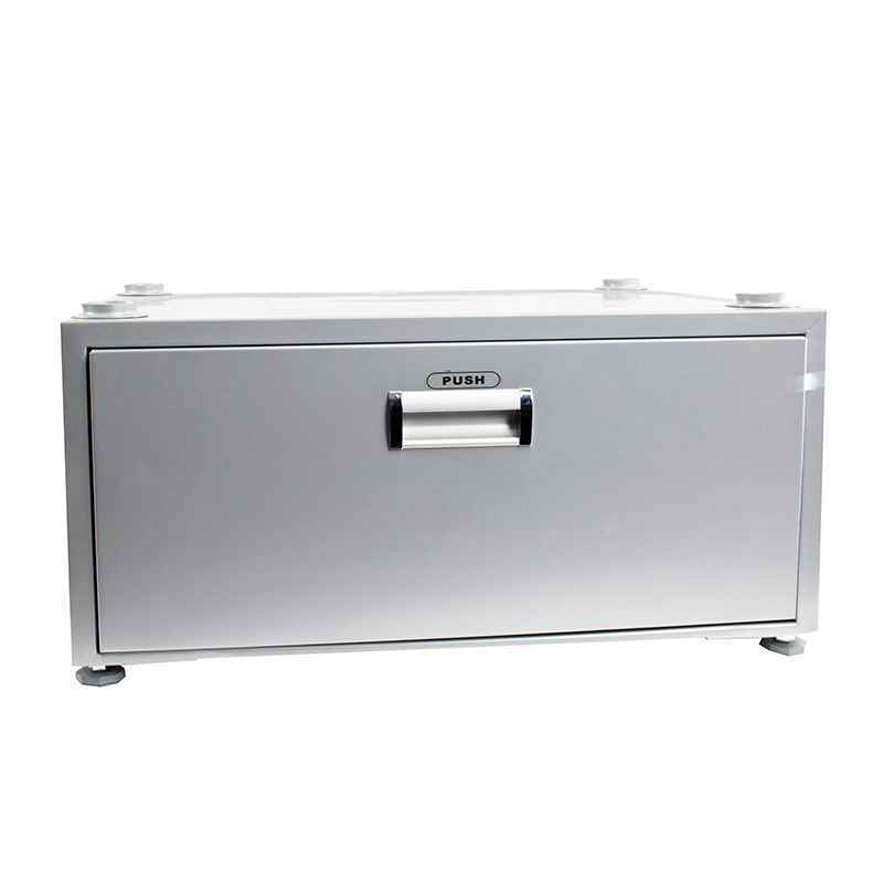 Equator-11.5 inc High Pedestal with Storage drawer (Silver)