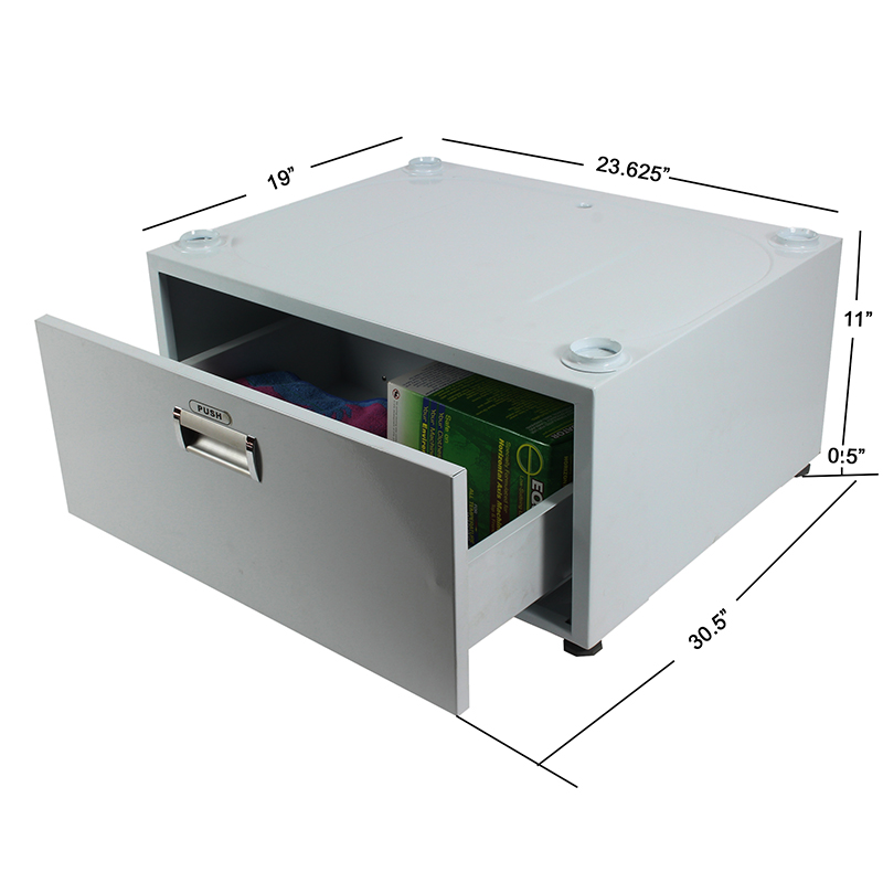 High Pedestal 18-2831 <br> with Storage drawer (Silver)