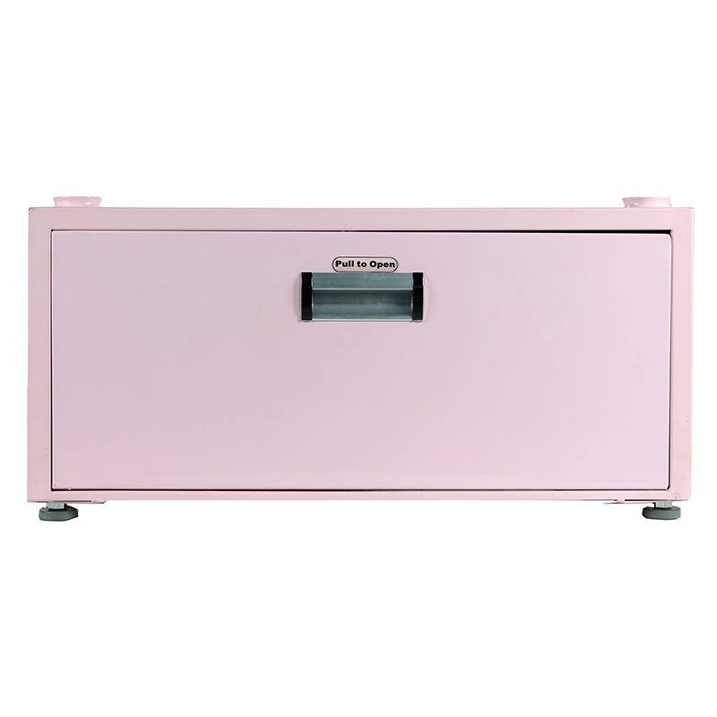 11.5 inch High Pedestal with Storage drawer (Pink)