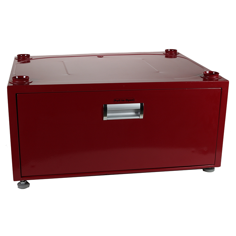 11.5 inch High Pedestal with Storage drawer (Merlot)