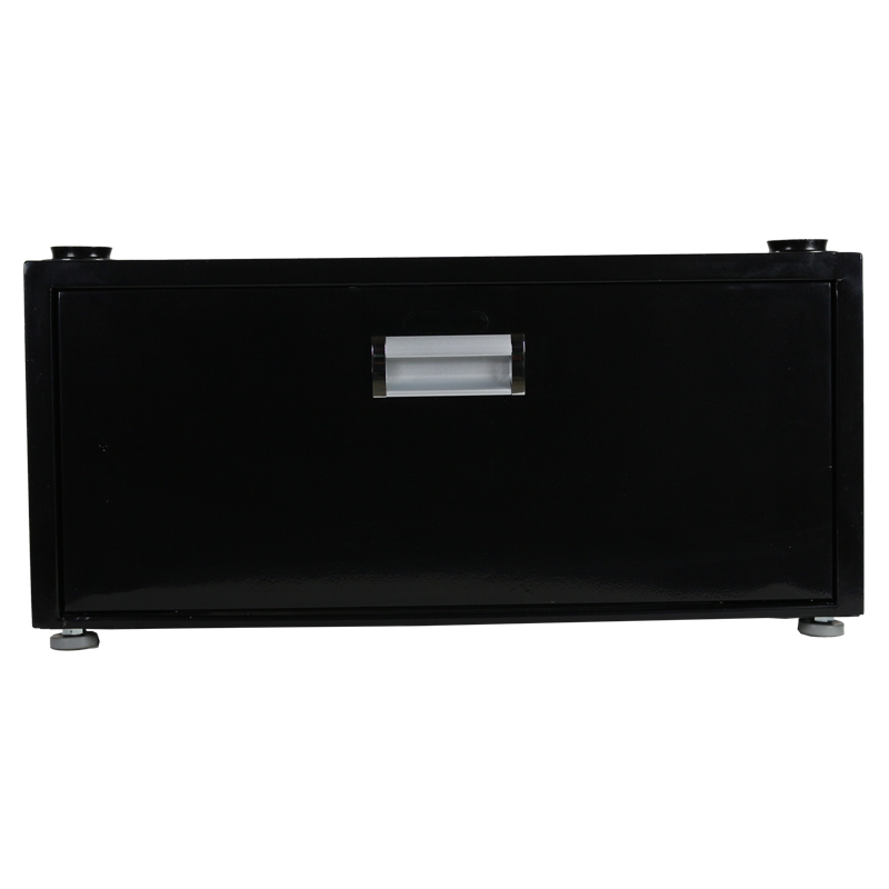 11.5 inch High Pedestal with Storage drawer (Black)