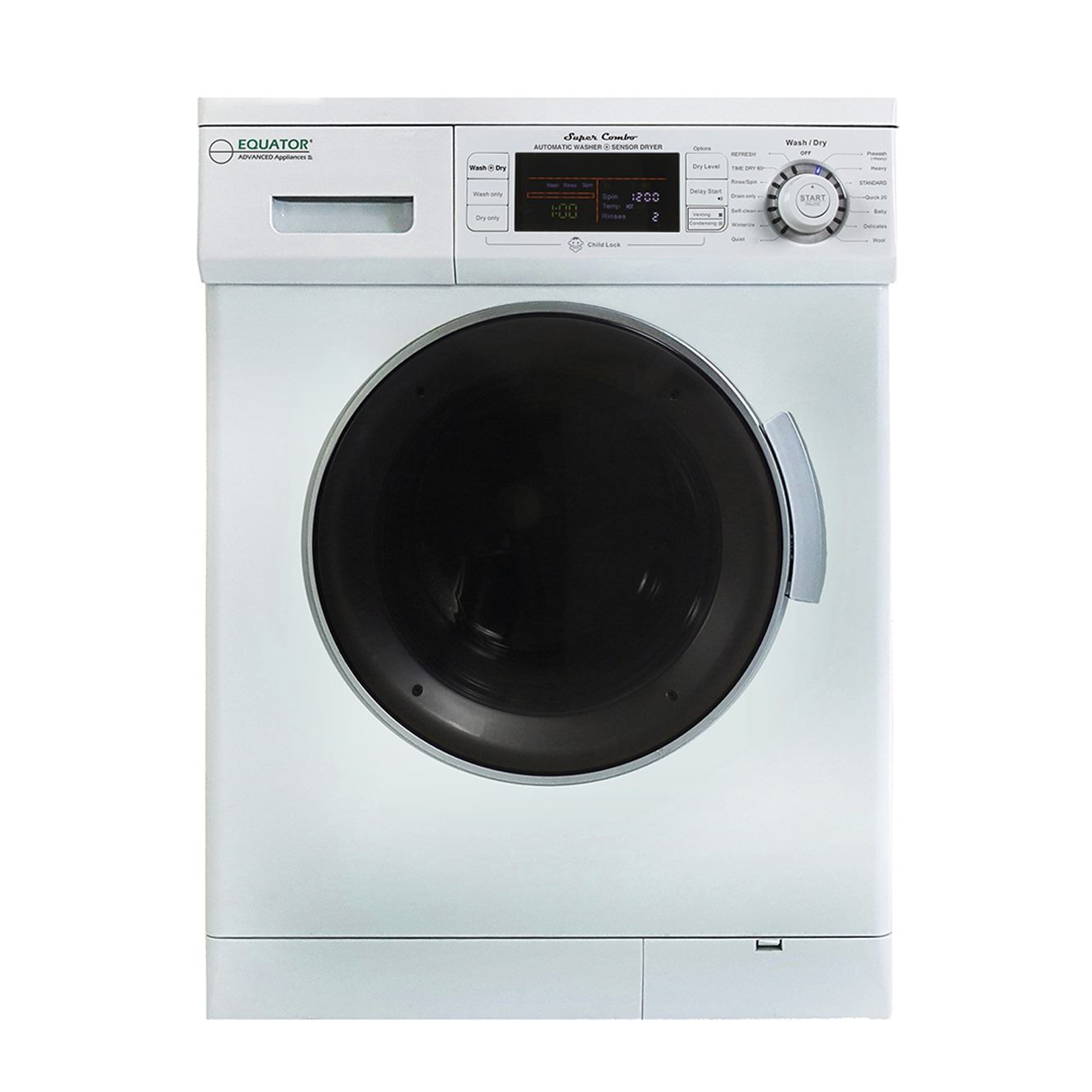 Equator Super Combo Washer-Dryer 4400N White