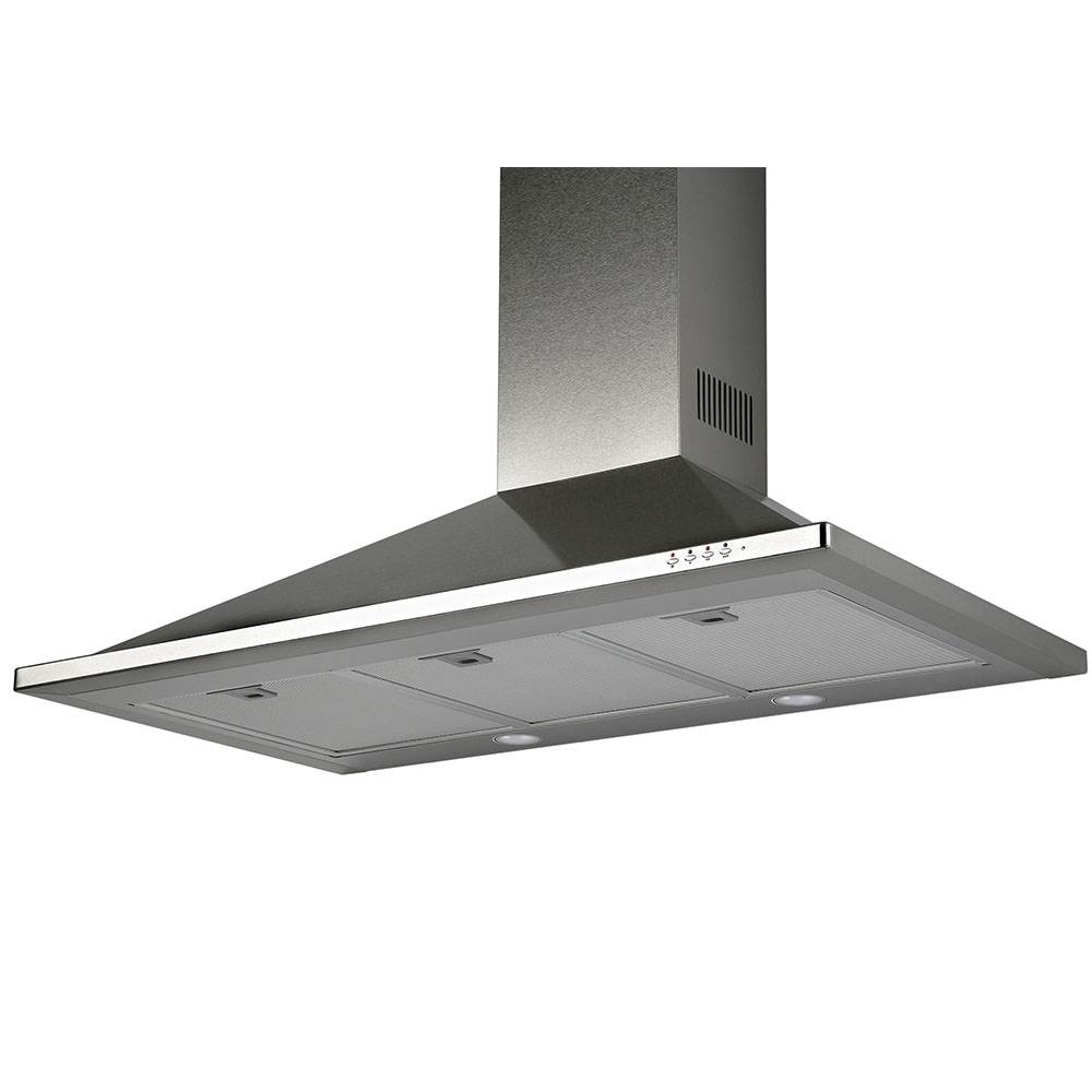 TR 36  Trapezoid design <br> Wall hood Stainless Steel