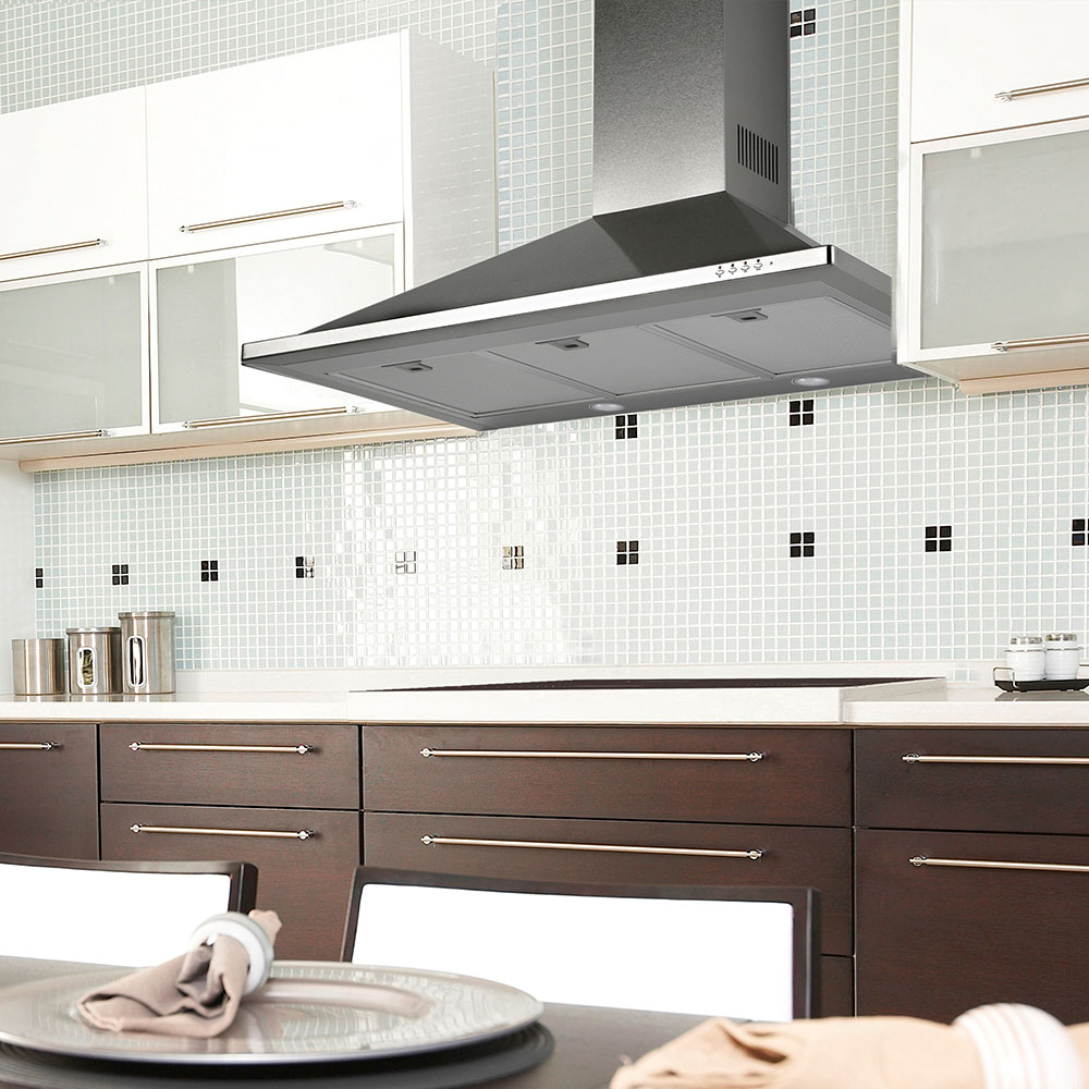 TR 36 - Wall hood Stainless Steel - Trapezoid design