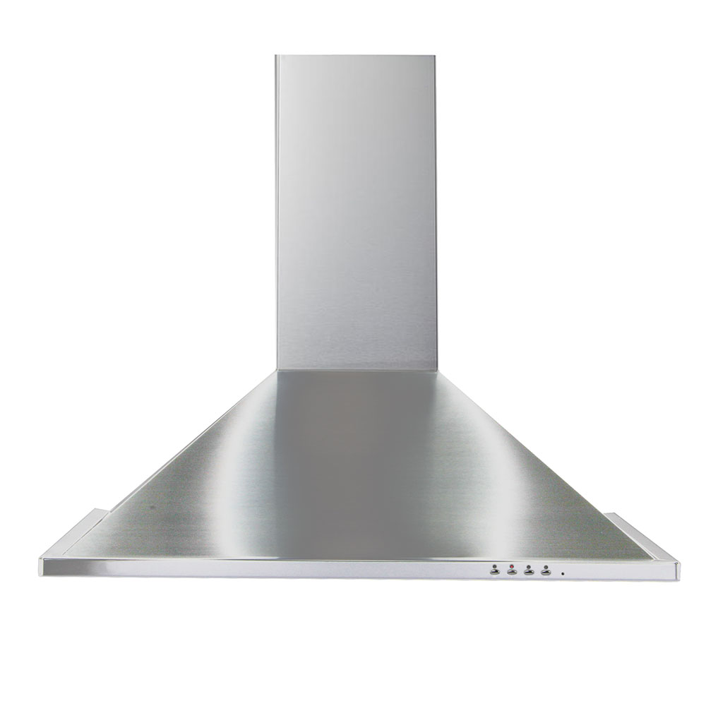 TR 30  Trapezoid design <br> Wall hood Stainless Steel