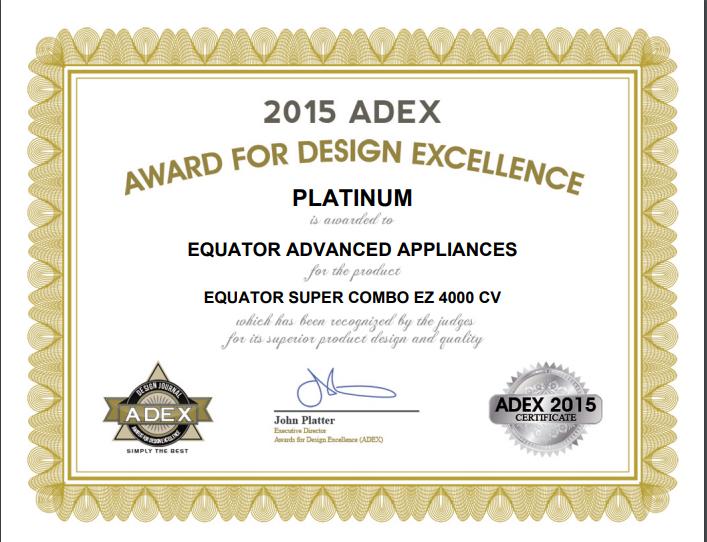 Adex Design Excellence Award - Platinum