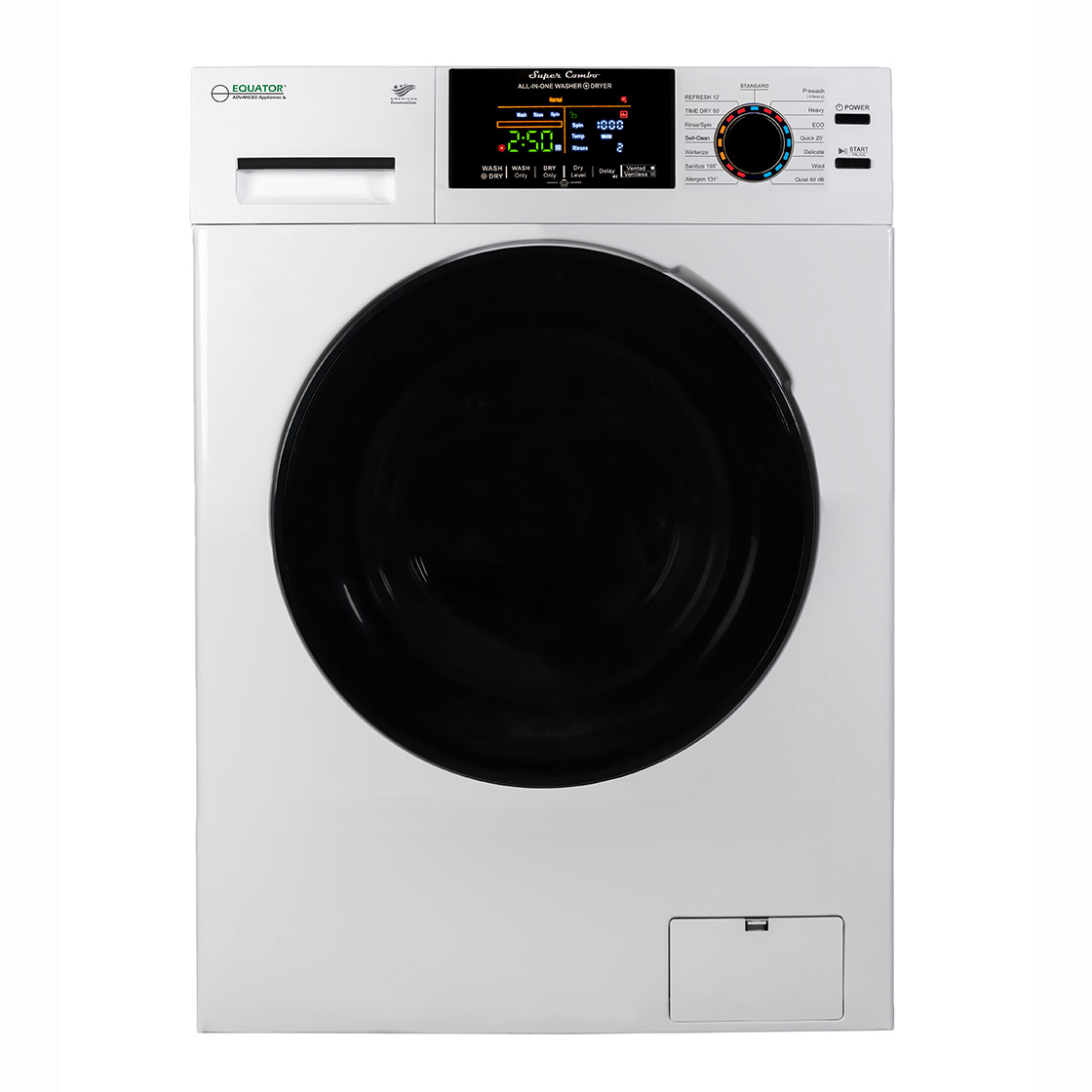 Equator Super Combo Washer-Dryer White EZ 5500 CV