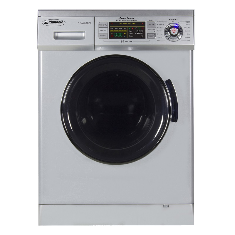 Super Combo Washer-Dryer <br> 13 lbs Silver