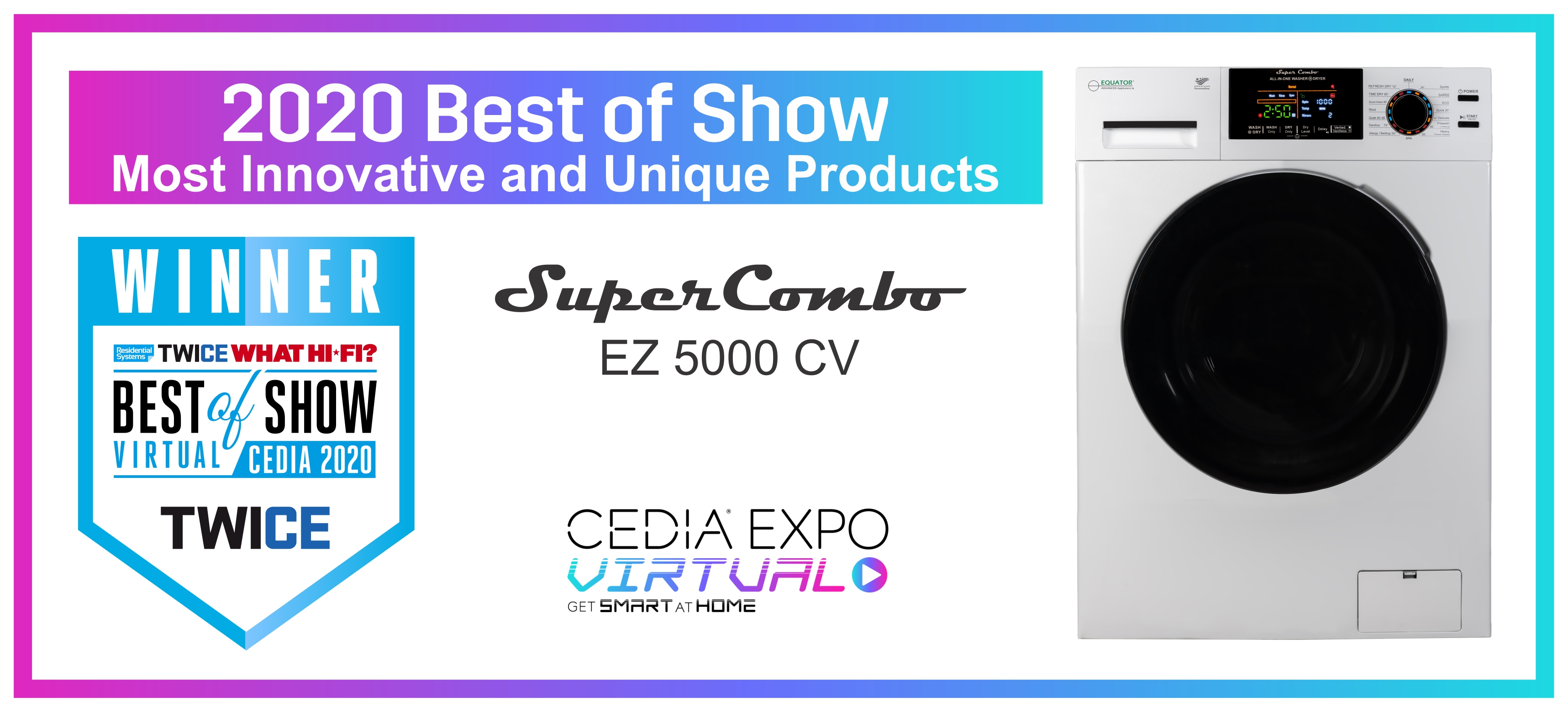 Equator Combo Washer-Dryer Wins Cedia Award