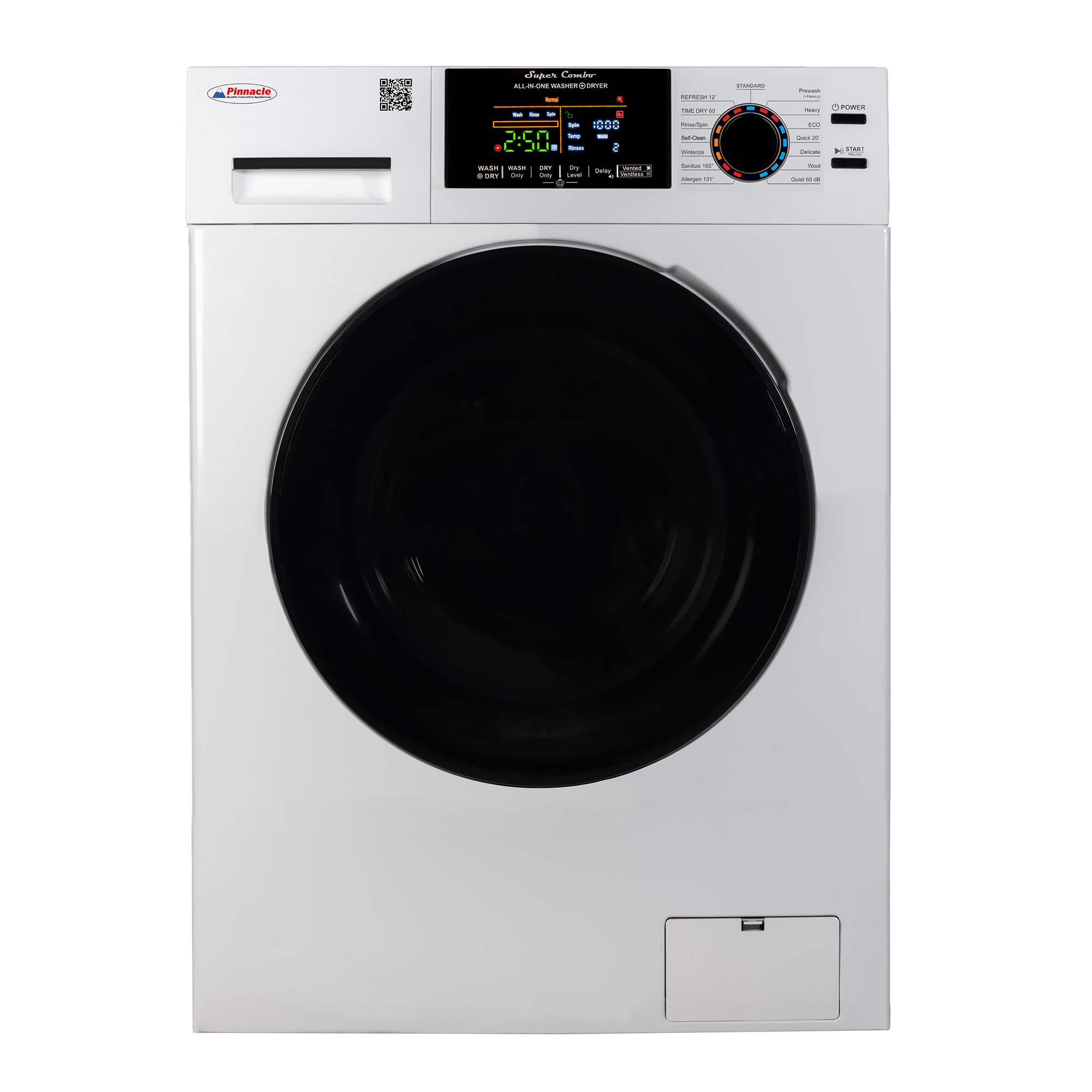 Pinnacle Super Combo Washer-Dryer White 18-5500 CV