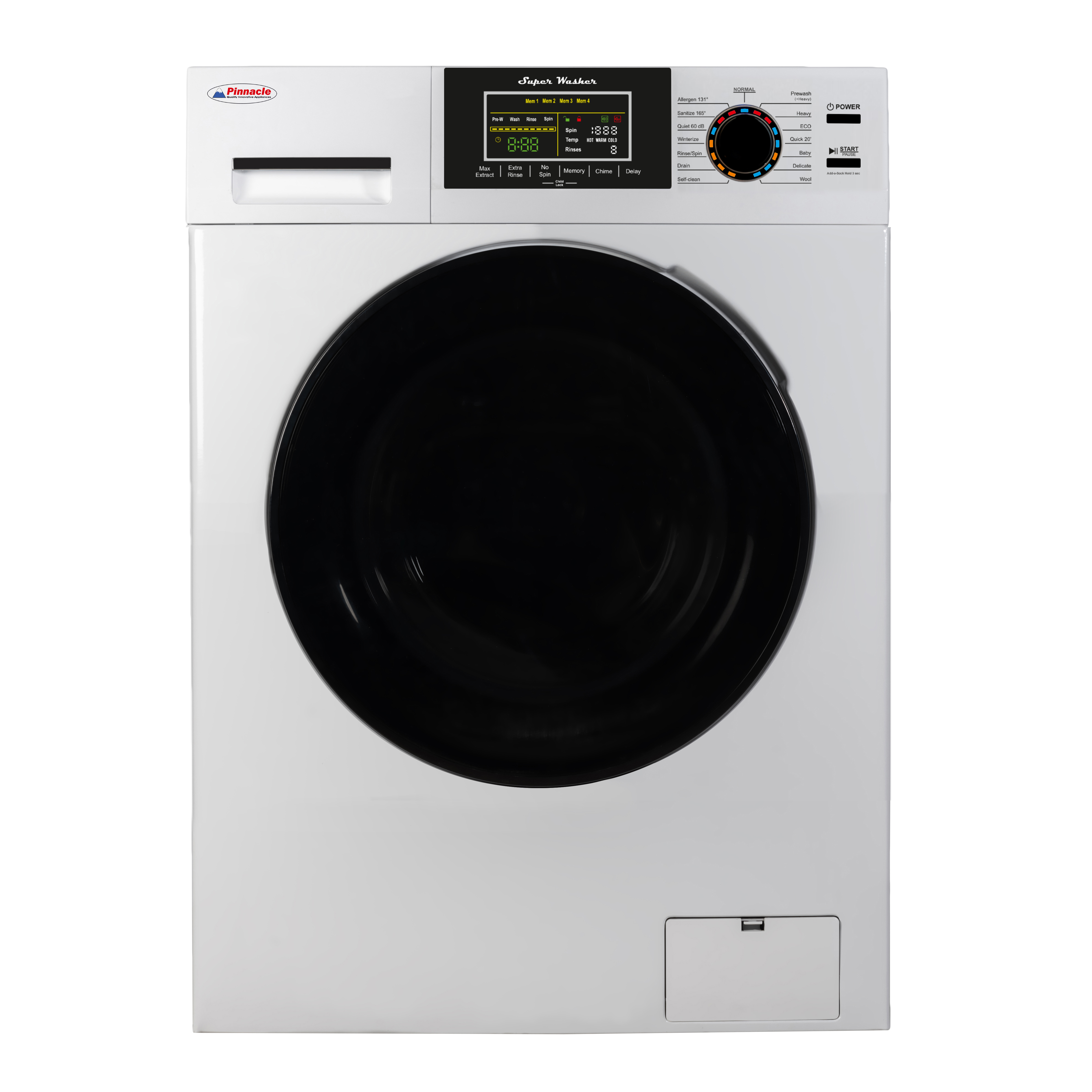 Pinnacle 18 lbs Washer with Sanitize, Allergen and Winterize Features