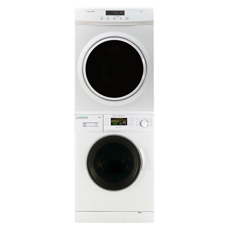 Equator Stackable Washer Dryer Set EW 820+ED 860 V