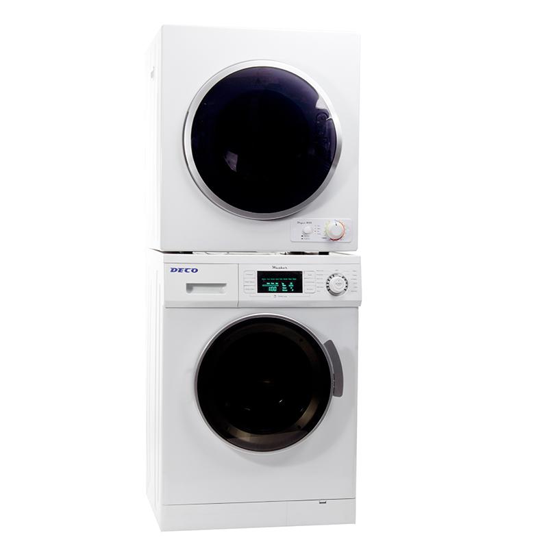 deco stackable washer dryer set dw 820 u0026 dd 850 v