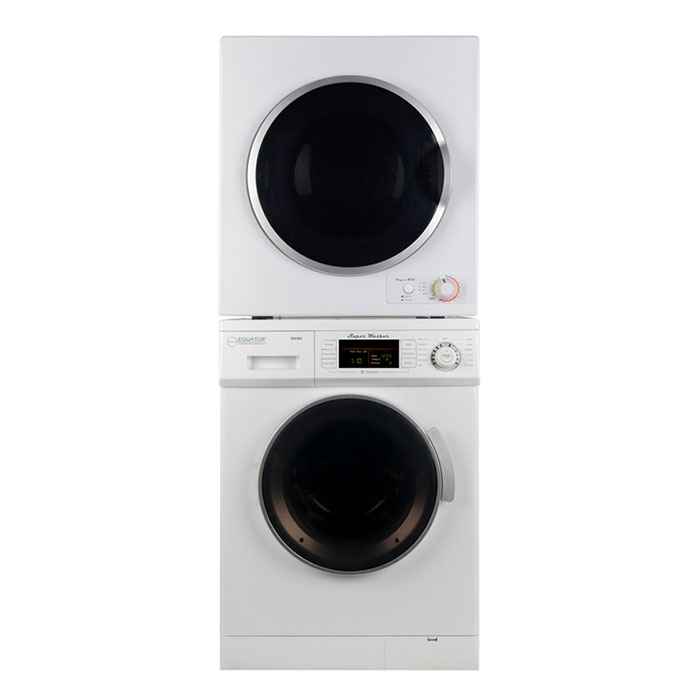 equator stackable washer dryer set ew 824 ed 850 v