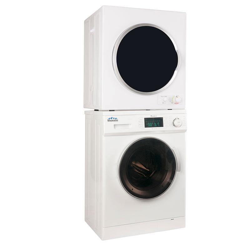 over under washer dryer. Majestic Stackable Washer Dryer Set MW 824 + MD 850 V Over Under
