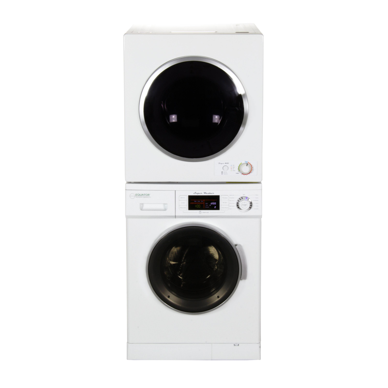 Equator Stackable Washer Dryer Set EW 824 + ED 850 V